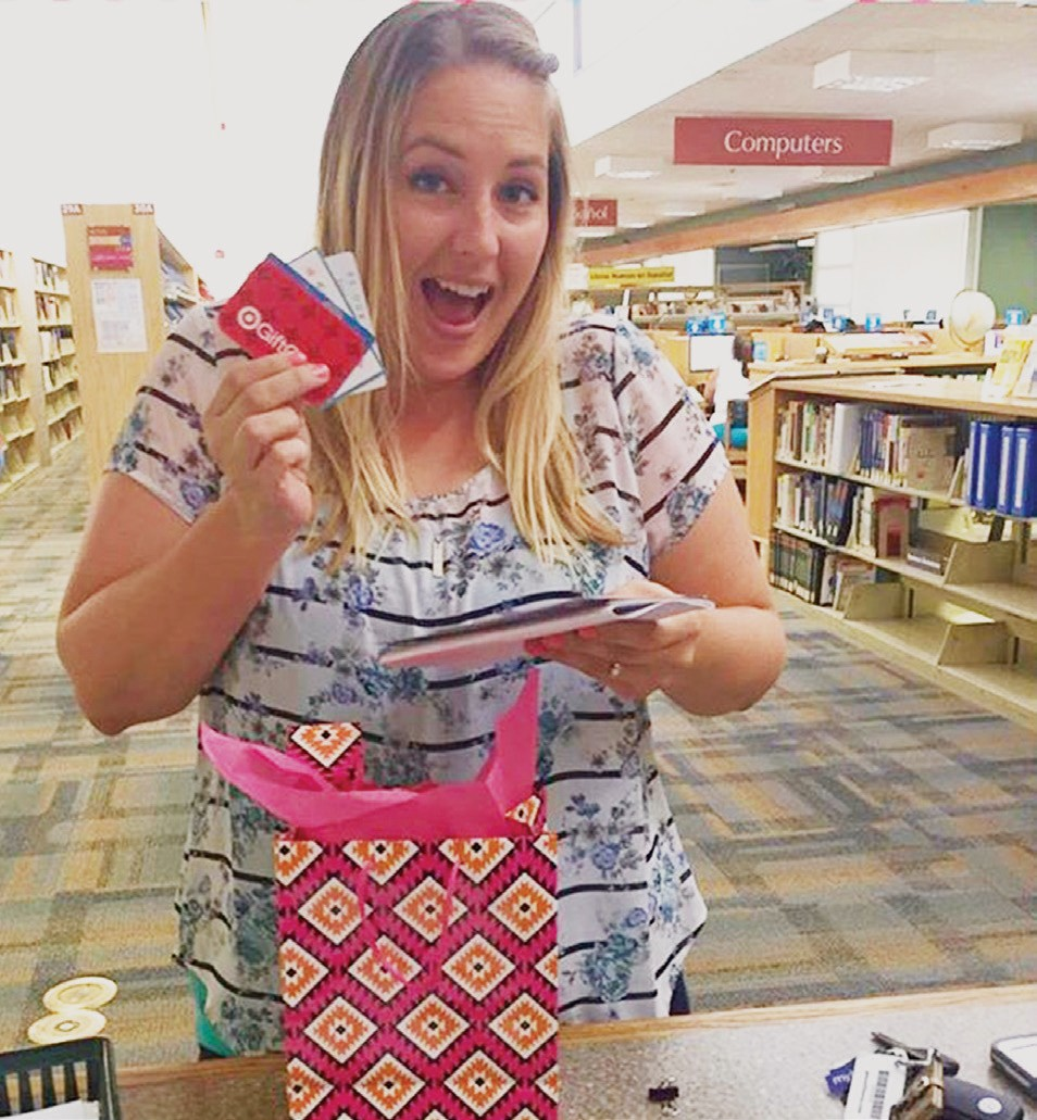 The adult winner of the Summer Reading Challenge, Sharilyn Farrel. Photos courtesy of the Escondido Public Library