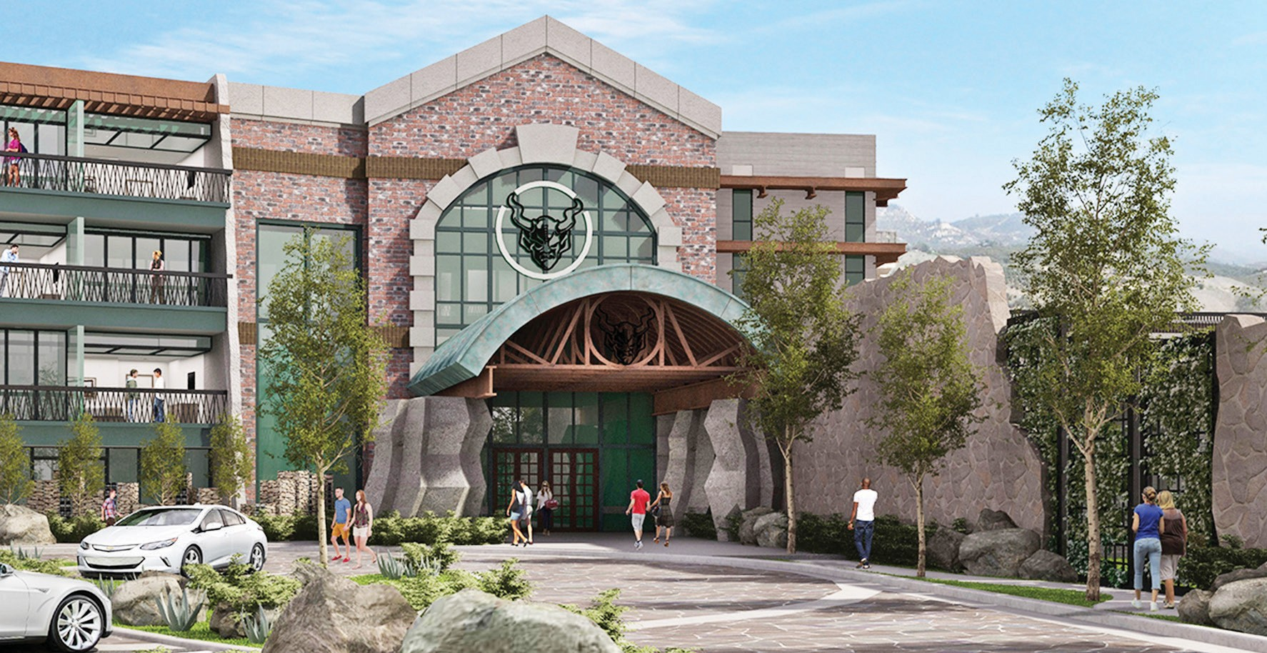 Artist's conception of the $26 million Stone Hotel.