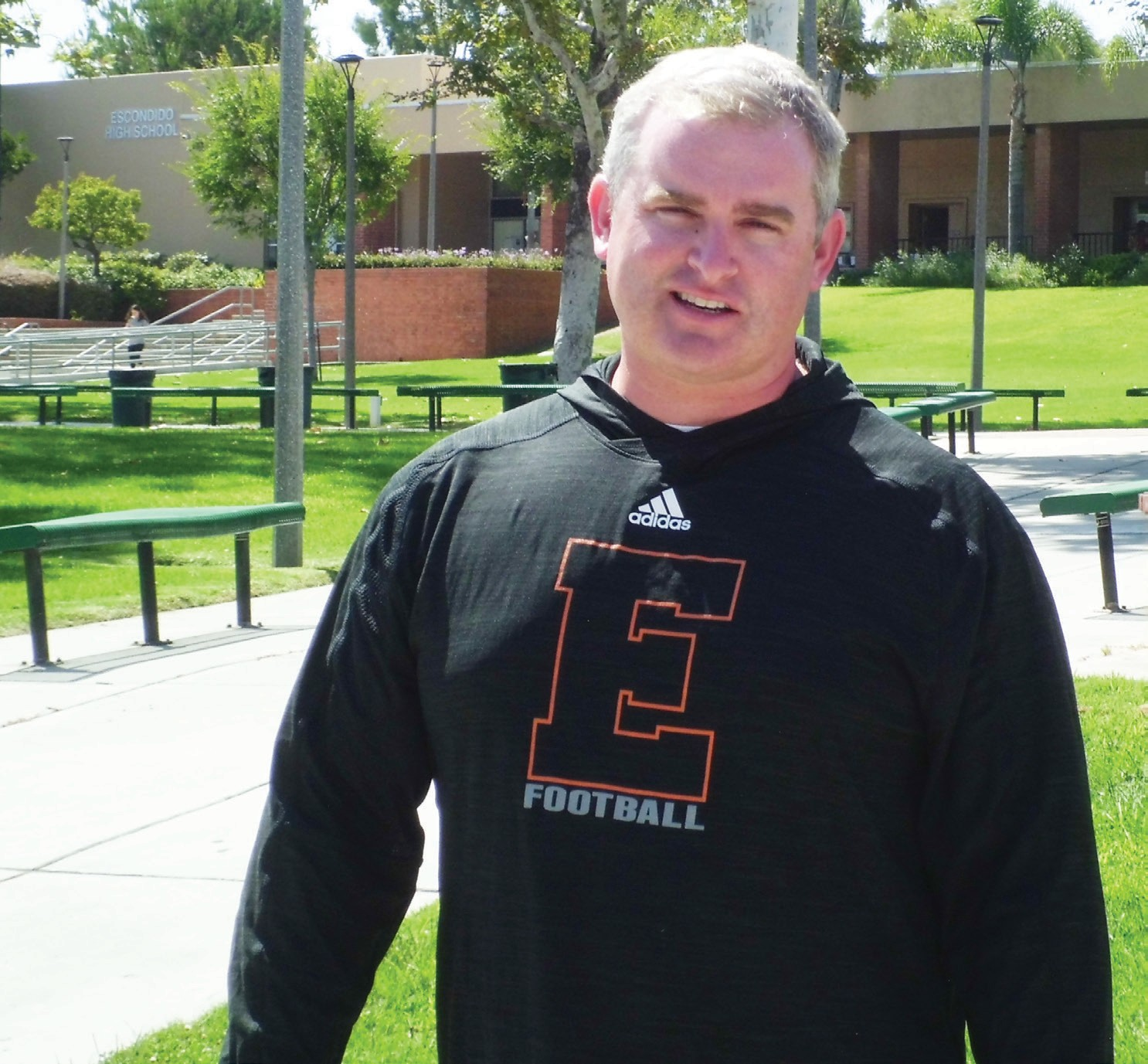 Coach Jud Bordman looks forward to the challenge of reviving the Escondido football program.