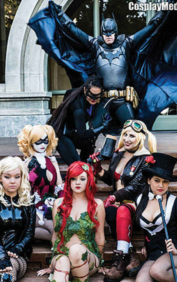 Characters from DC Comics take part in a meet up at last year's event. Photo courtesy CosplayMedia