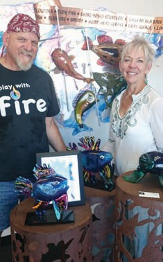 James Stone and Carol Rogers of Stone and Glass in Escondido.