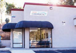 Right: An outside view of the new office of Perez Chiropractic.