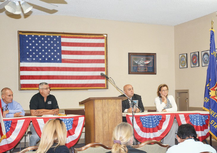 Veteran Resources panel VA San Marcos Vet Centers, Cal Vet LINK, and Archie's Acres speak on Veteran resources.