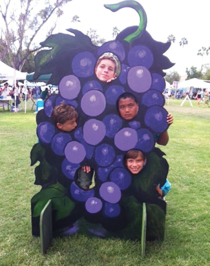 Alexander the Grape, one of the familiar sites at the Grape Day Discovery Festival.