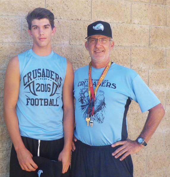 Coach Randy Kreglow has great belief in the capabilities of his versatile quarterback Matt Lafler.
