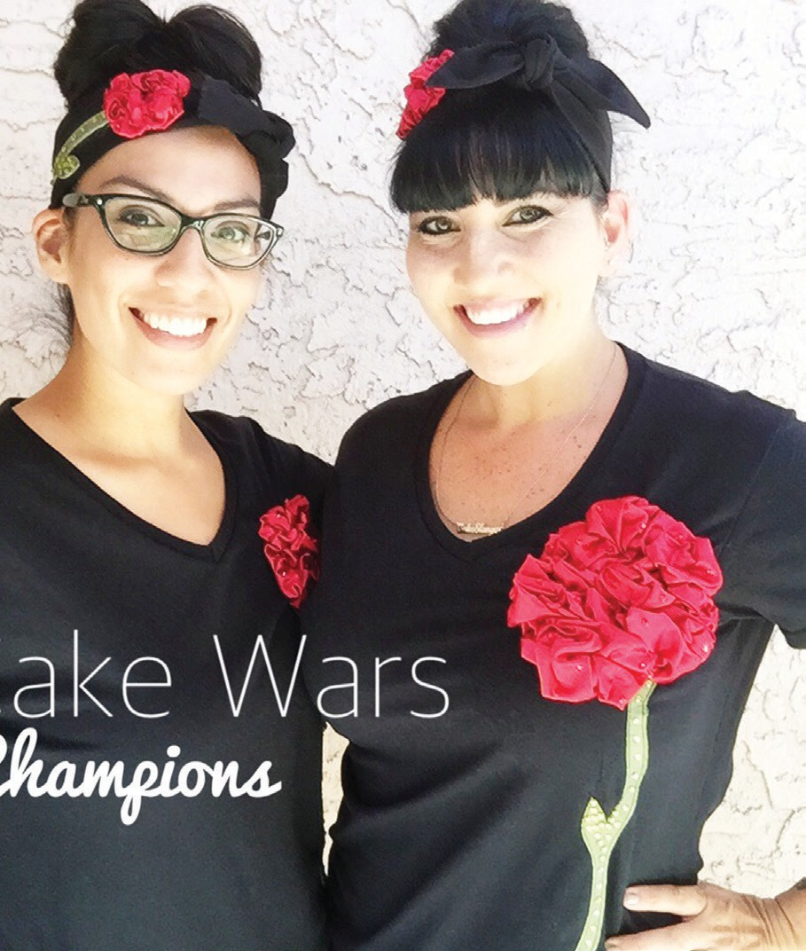 Little Hunnys Cakery Cake Wars champions (left) Alicia Becerra and owner Linda Caro (right).