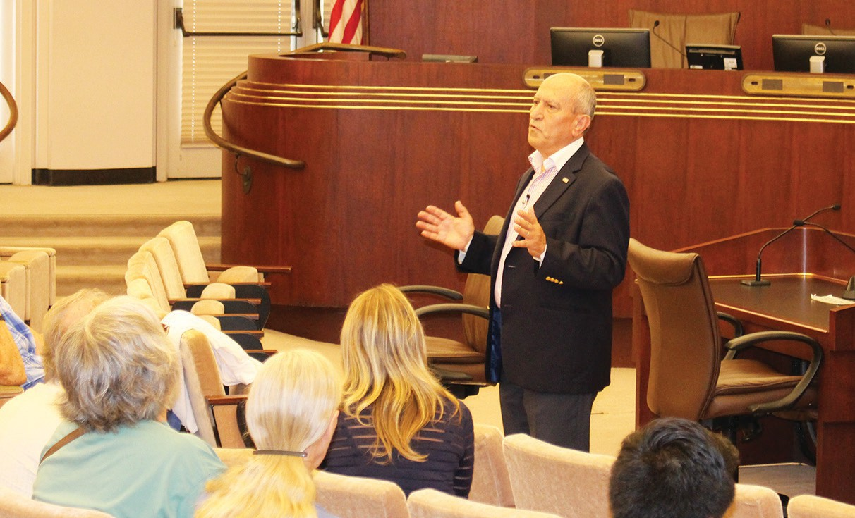 Mayor Sam Abed held his semi-annual town hall forum Wednesday at the City Hall.