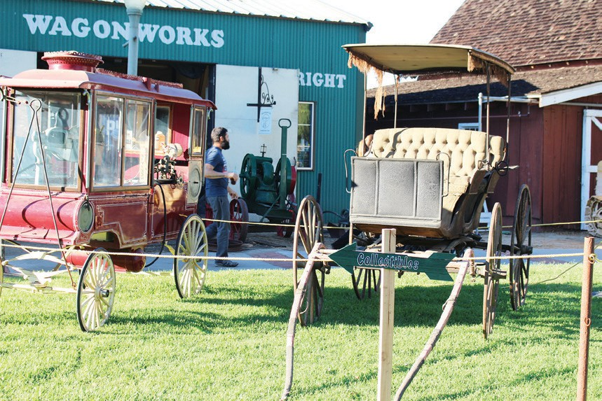 The Escondido History Center brought out some of its popular old wagons to show off for the day. Photo by David Ross