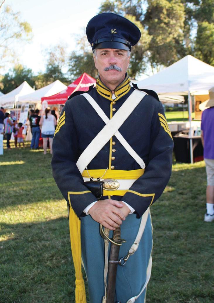 Battle of San Pasqual battlefield reenter at Saturday's festival.