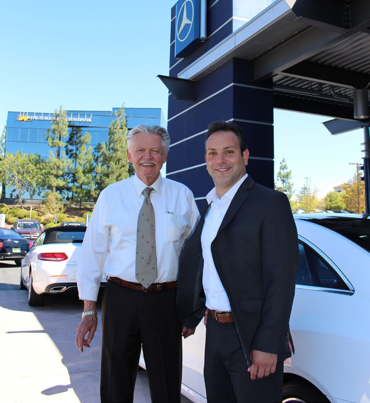 Salesman Mike Guerin (left) and Mercedes Benz of Escondido General Manager Jason Cestaro.