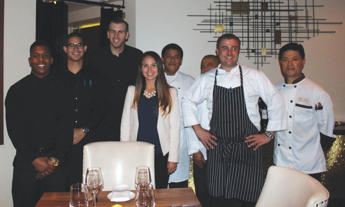 The team at Bellamy's includes, (from left) Oshave Sudds, Jason Villacortez, A. J. Miall, Kristina Miller, Luis Huape, Mani de Jesus, Jonathan Freyberg and Martin Kim.