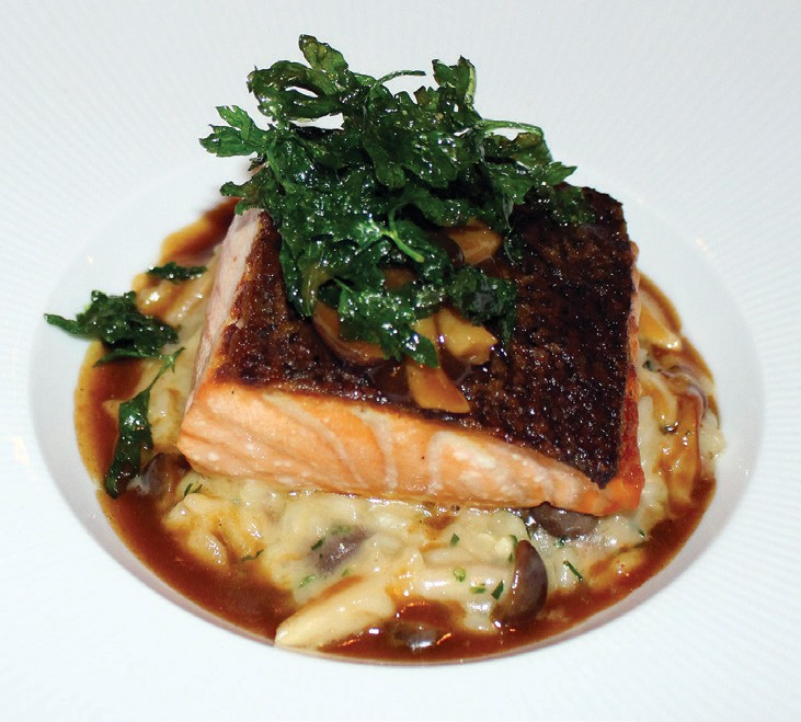 Scottish Salmon served over a bed of risotto. Photos by David Ross