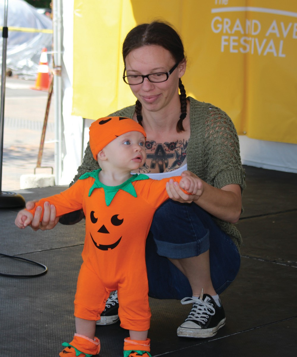 One of the Pumpkin Costume entries on Sunday.