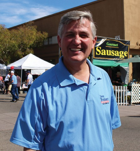 Supervisor Dave Roberts is always to be found walking at the street festival. We've seen him there every year. Photo by David Ross