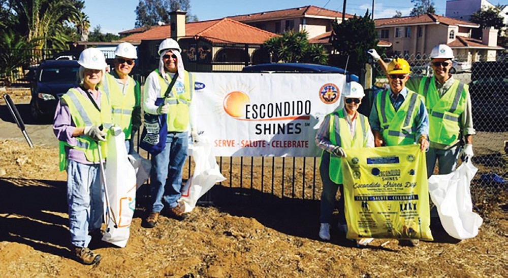 A week ago on Saturday the Rotary club of Escondido performed their cleanup activity on the interstate 78 freeway at City Center, Parkway interchange. This is their new service project where they have made an ongoing commitment to maintain this freeway section. This was organized by Larry Trautner.