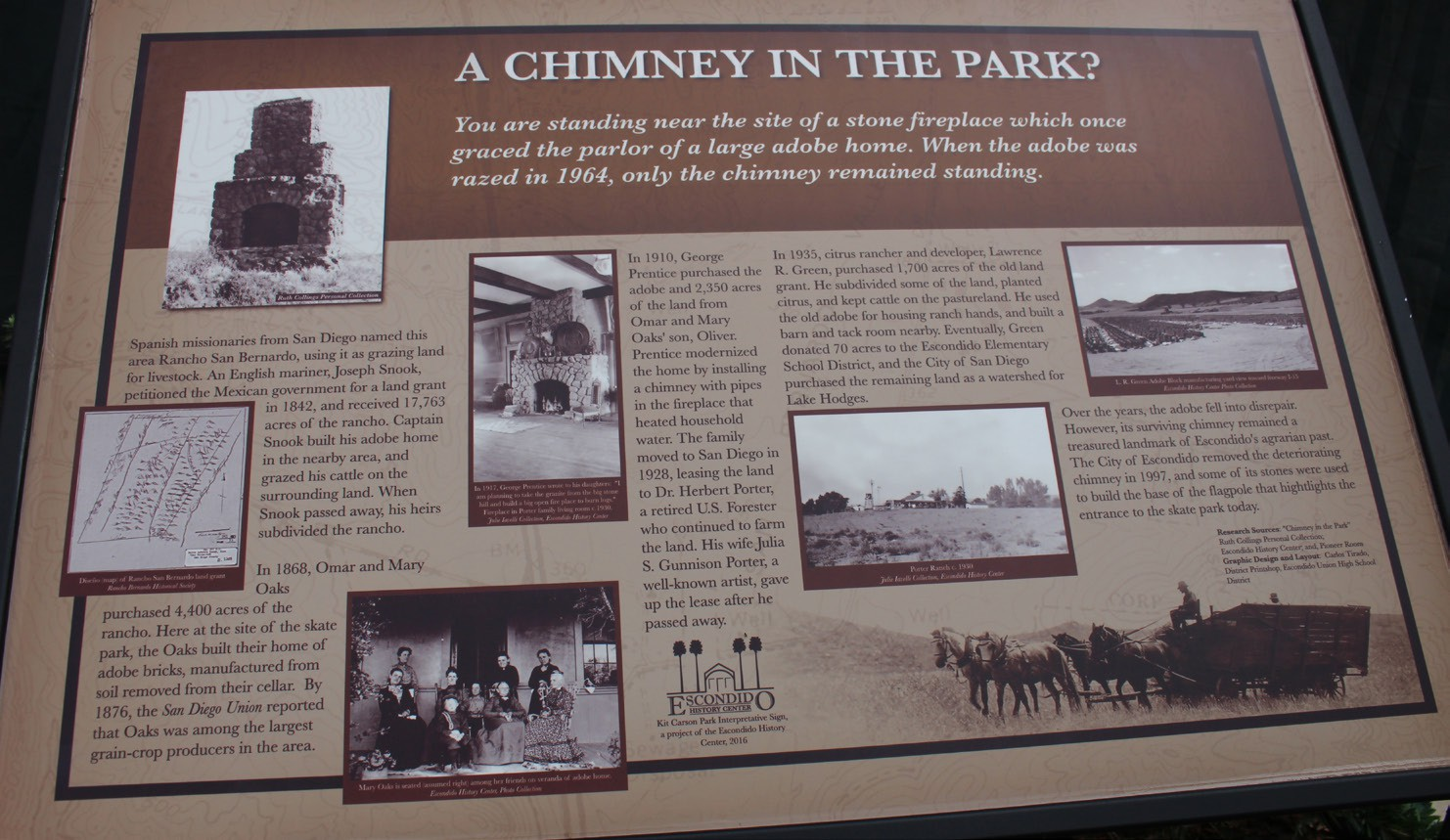 "The interpretive sign ""A Chimney in the Park."""