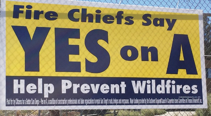 These signs are being posted all over North County.