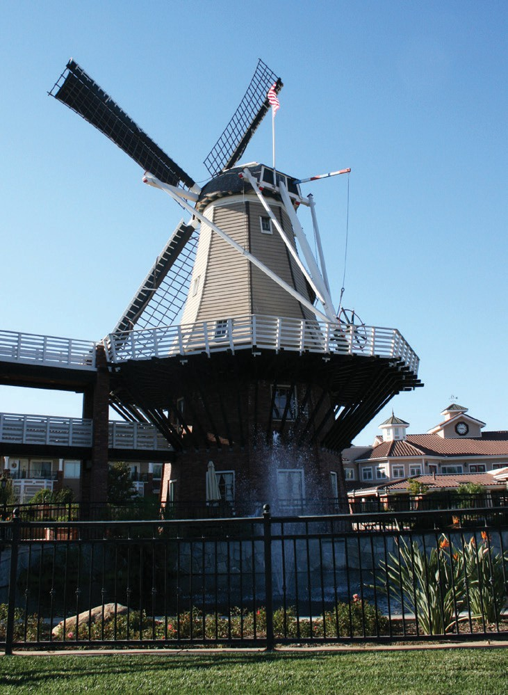The 86-foot-tall working Dutch windmill and coffee house.