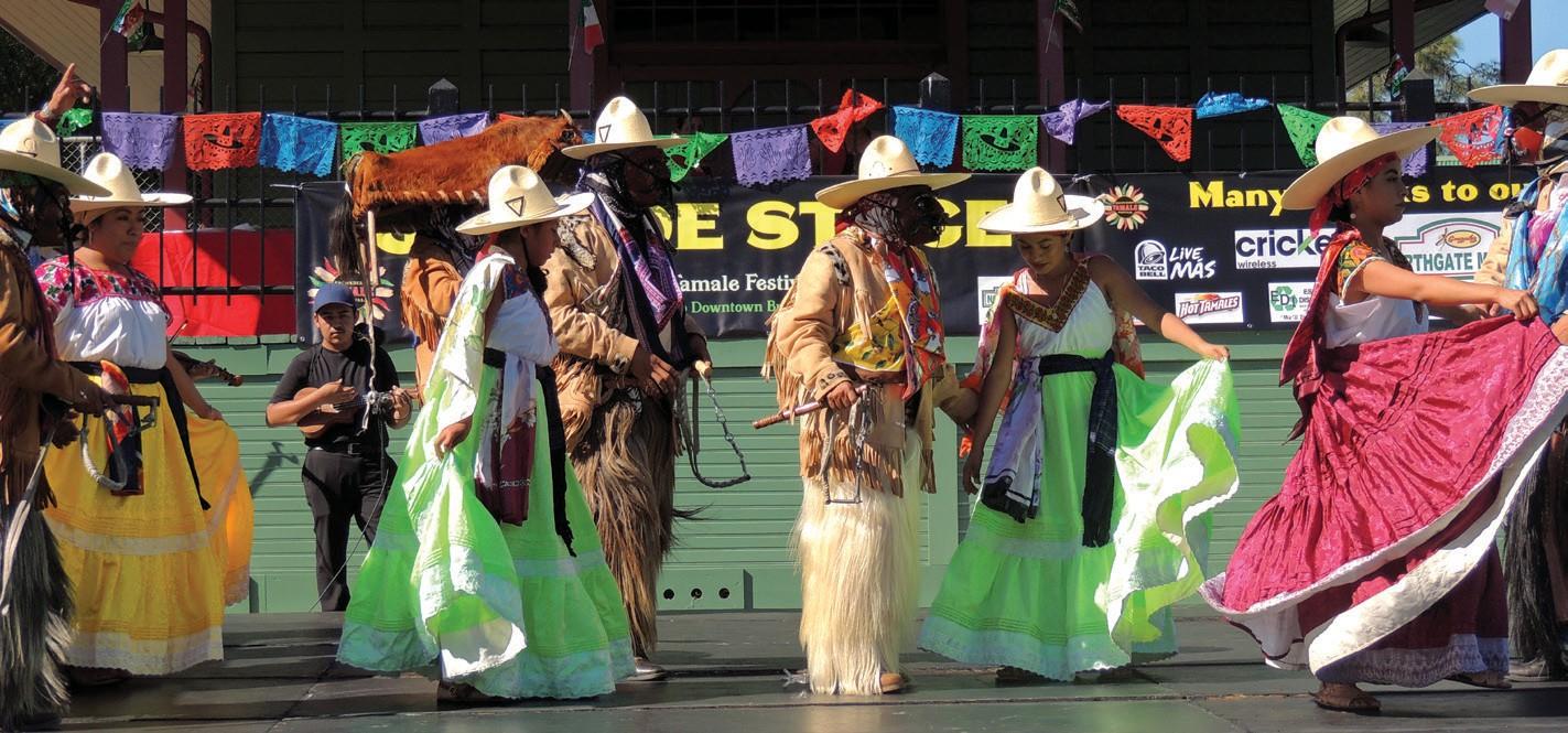 Danza de los Rubios, traditional Mexican dancers.