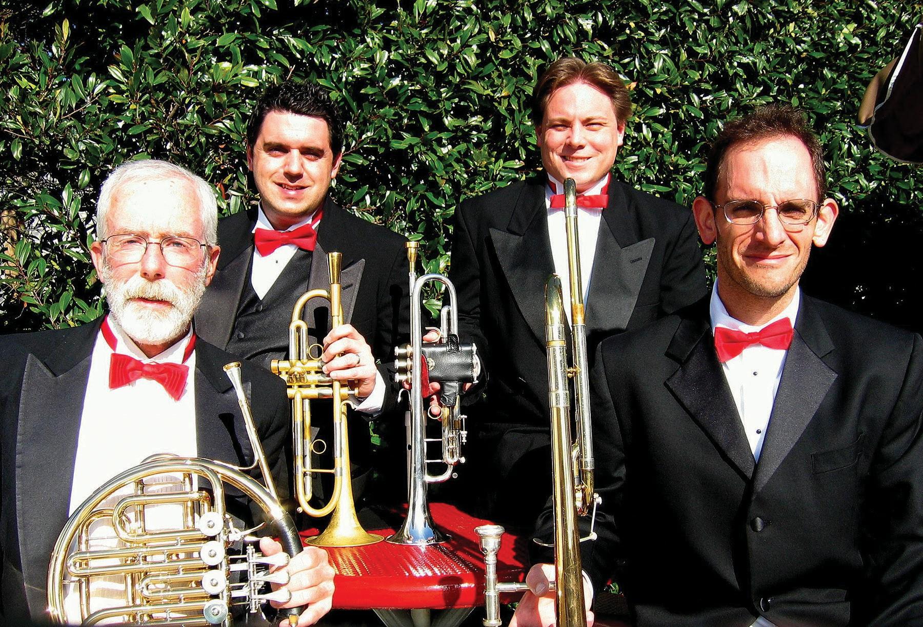 The San Diego Chamber Music Society Brass Quartet.