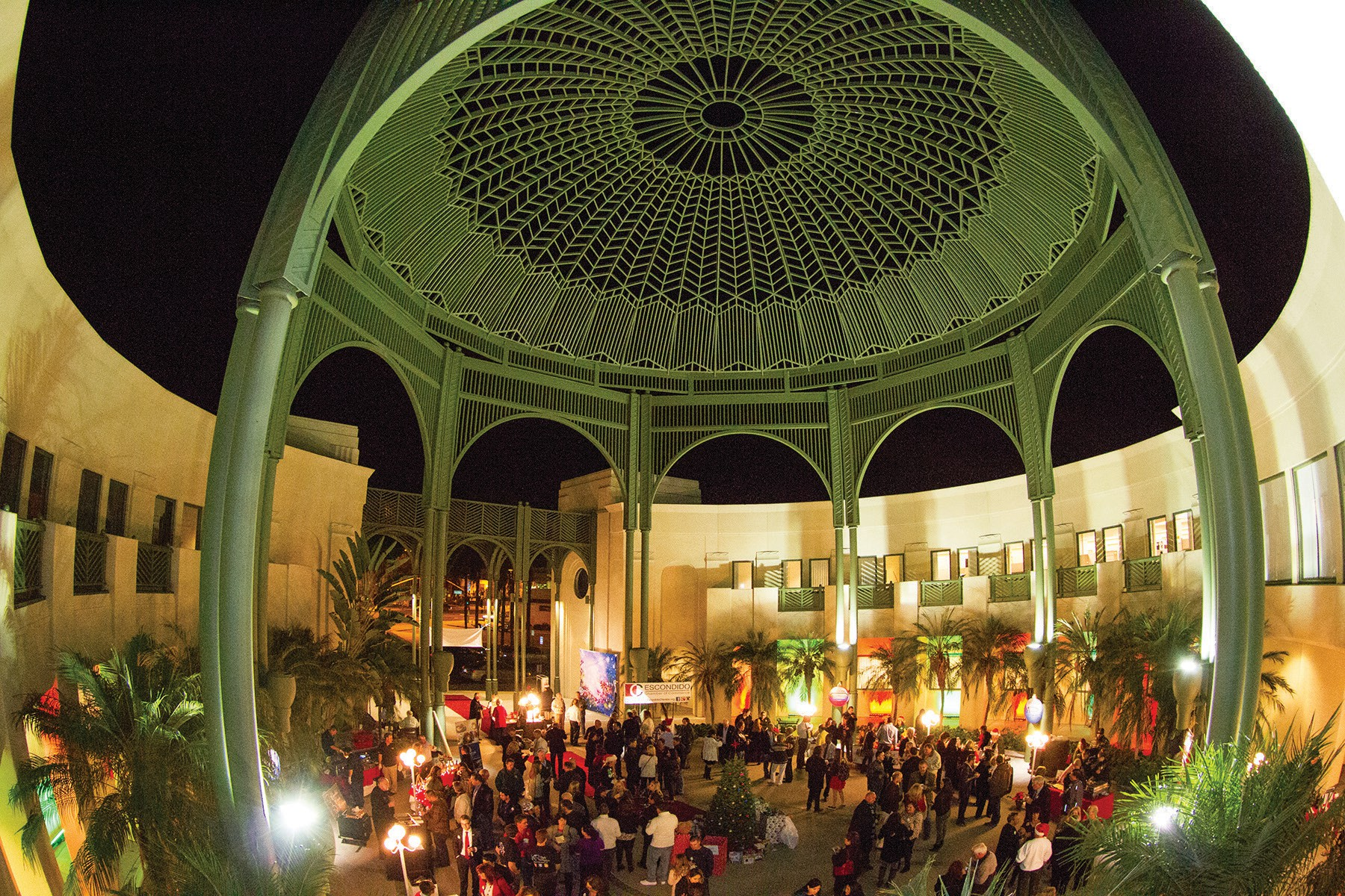 The rotunda of the Escondido City Hall will be lit up for one night during the Community in Unity event December 1st.