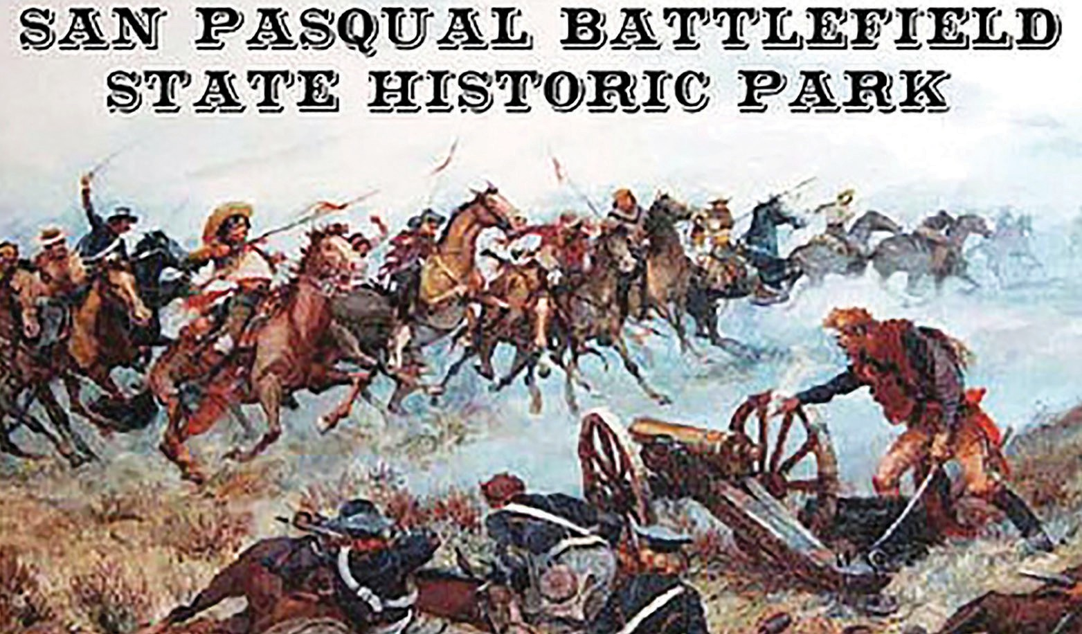 A painting at the San Pasqual Battlefield Museum, which is part of the San Pasqual Battlefield State Historic Park.