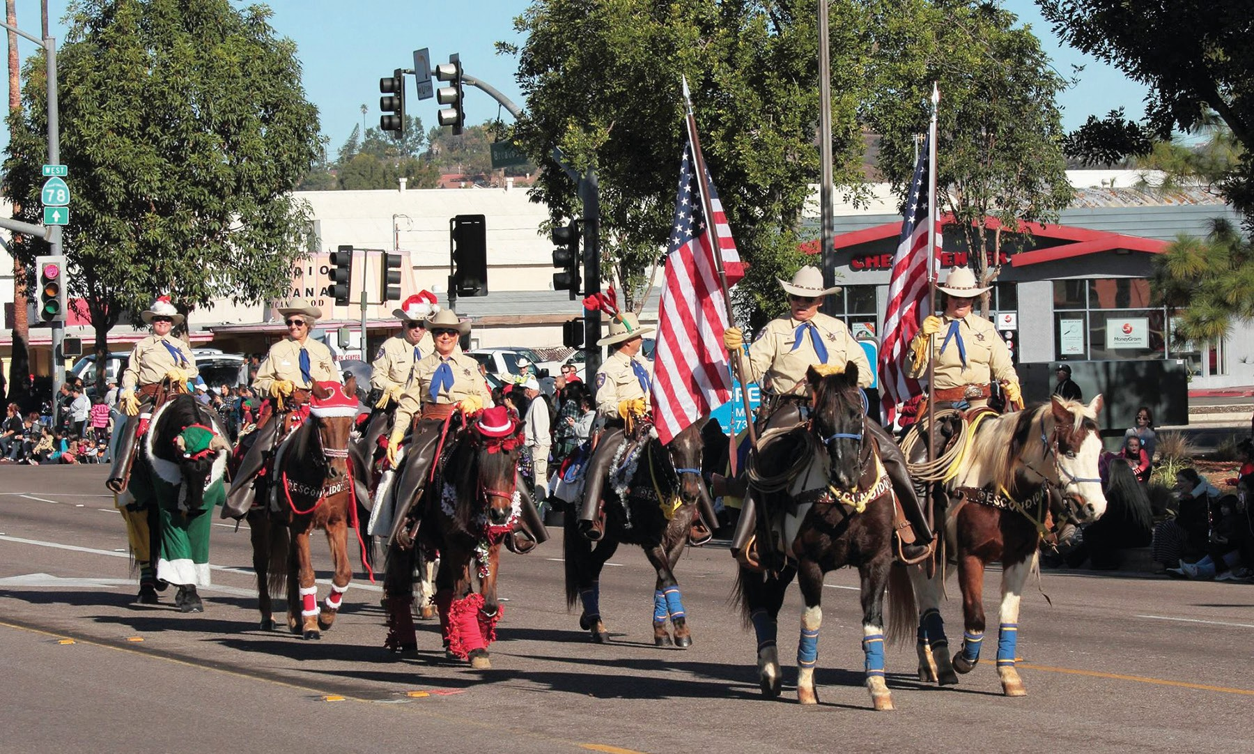 The Escondido Mounted Posse Color Guard will lead off the parade.