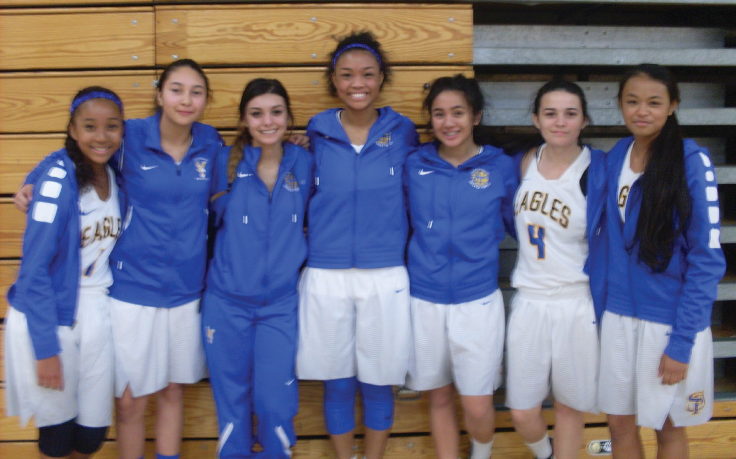Members of the San Pasqual High School Girls Basketball team. Photo by Brittany Aellig.