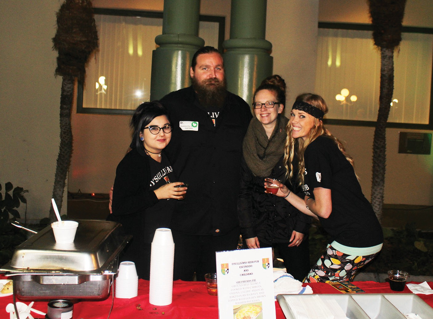 Above: The crew from O'Sullivan's, an Irishthemed pub and restaurant, served up savory samples of Shepherd's pie.
