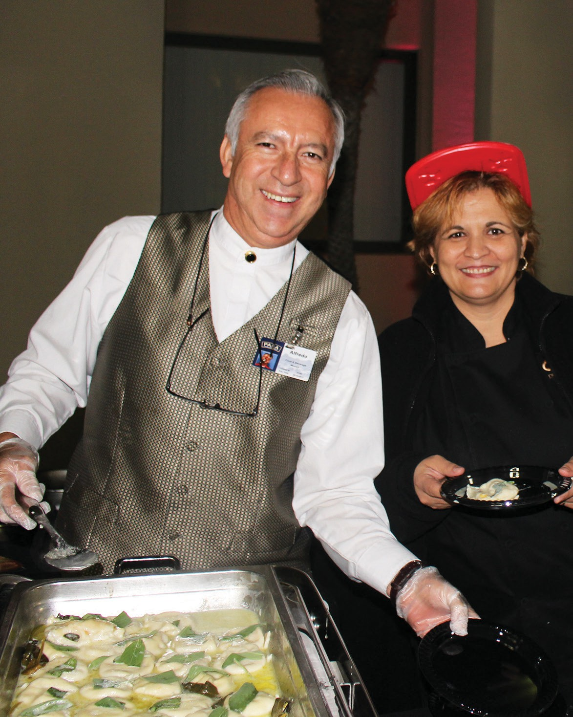 Above: The crew from Pala Casino served succulent squash ravioli.
