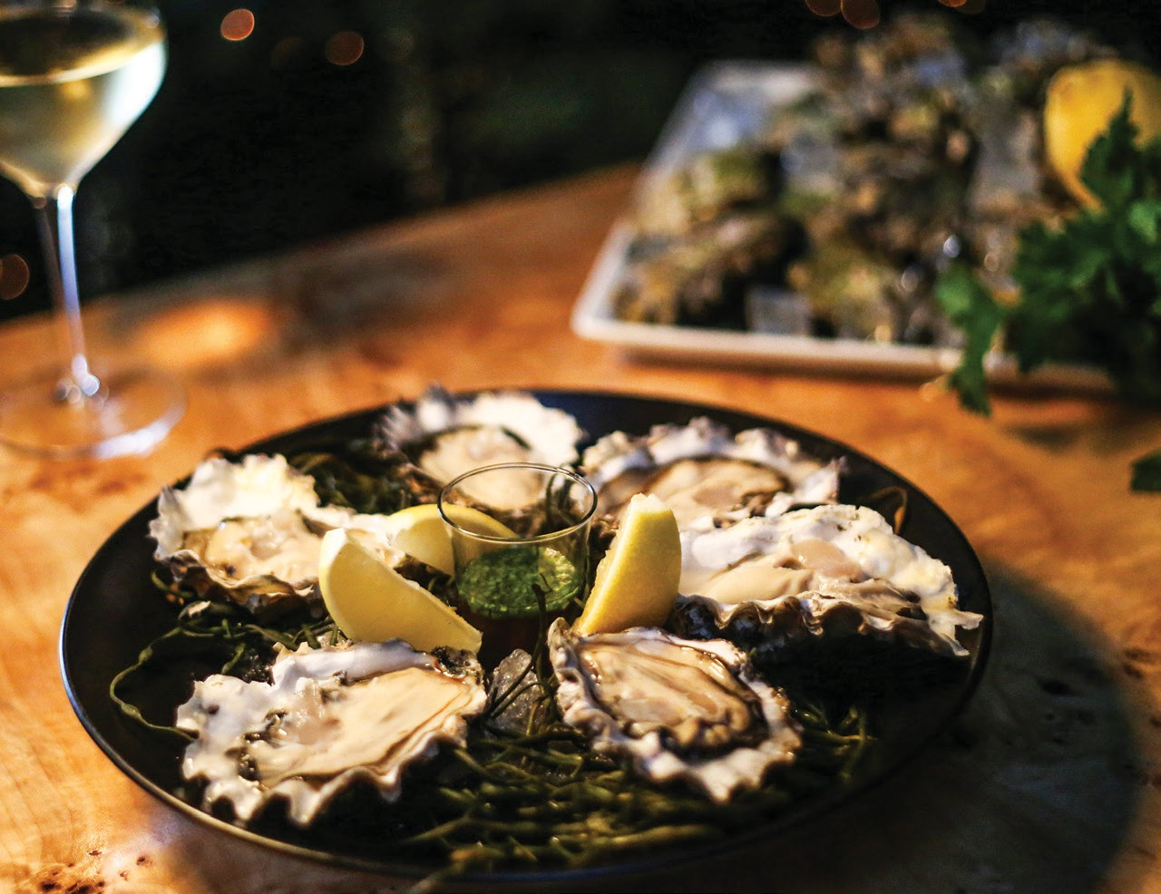 Oysters on the ½ Shell with Mignonette and Citrus.