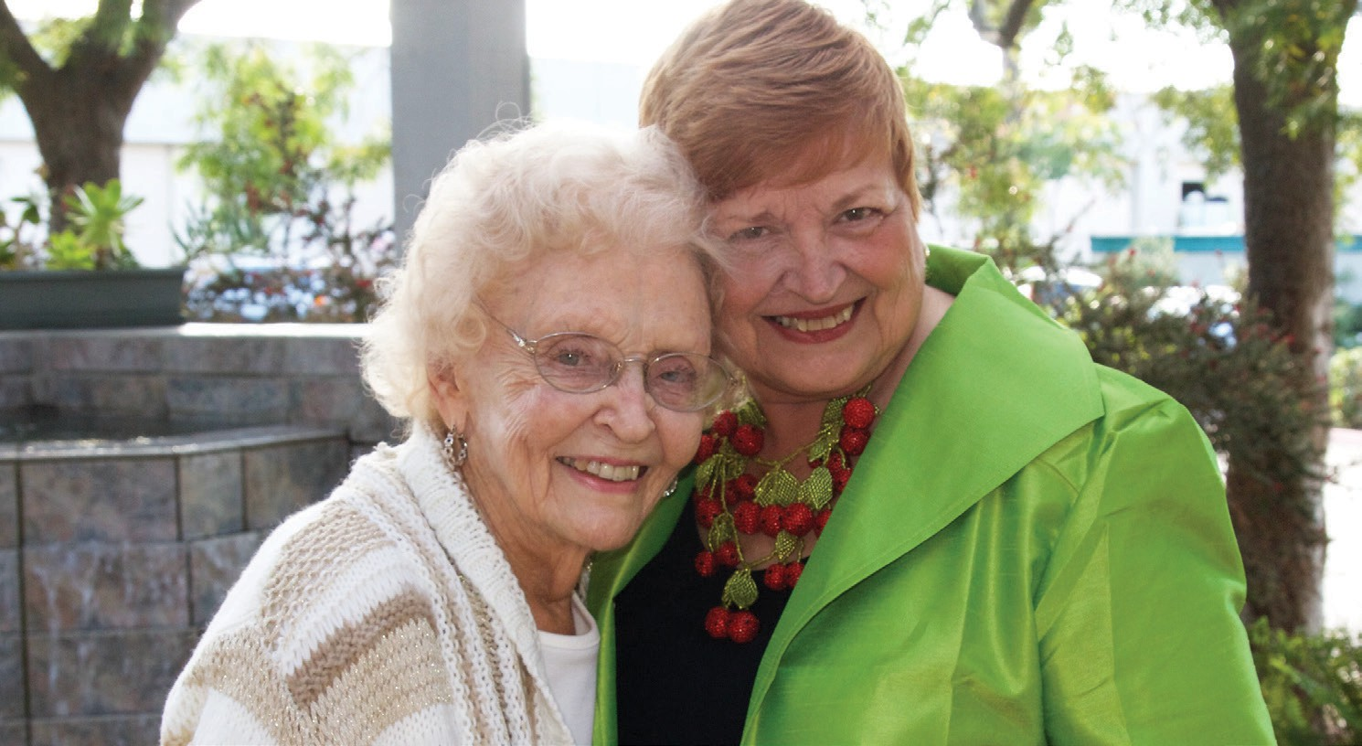 From left, Betty Bulen, founder of the Elizabeth Hospice and Jan Jones, CEO and president of the Elizabeth Hospice at the Light Up a Life ceremony on December 11.
