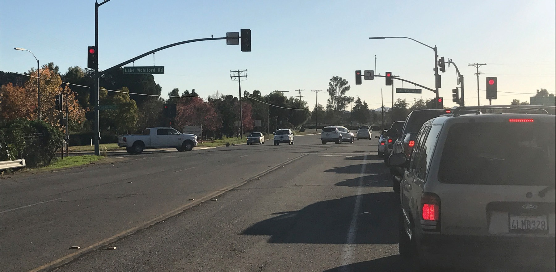 The 3,000 foot stretch of East Valley Parkway that will be widened in 2017.