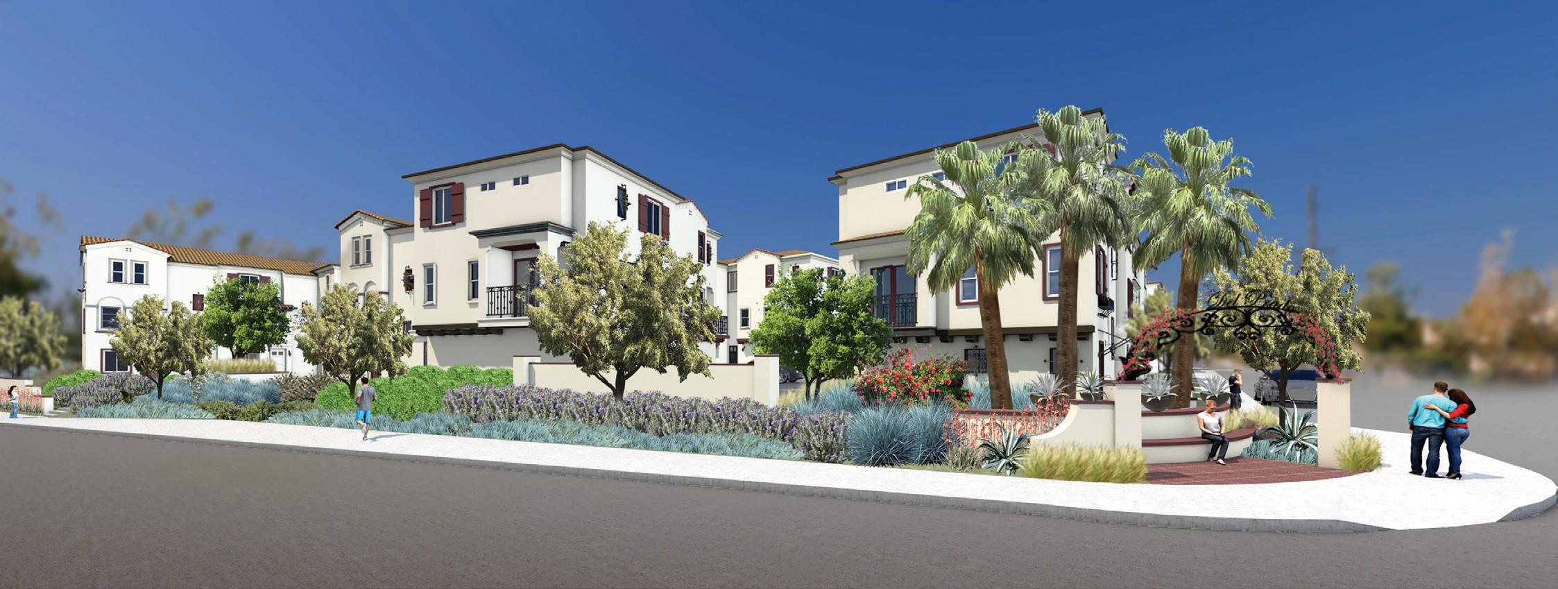 Artist's rendering of homes envisioned for the Del Prado development.