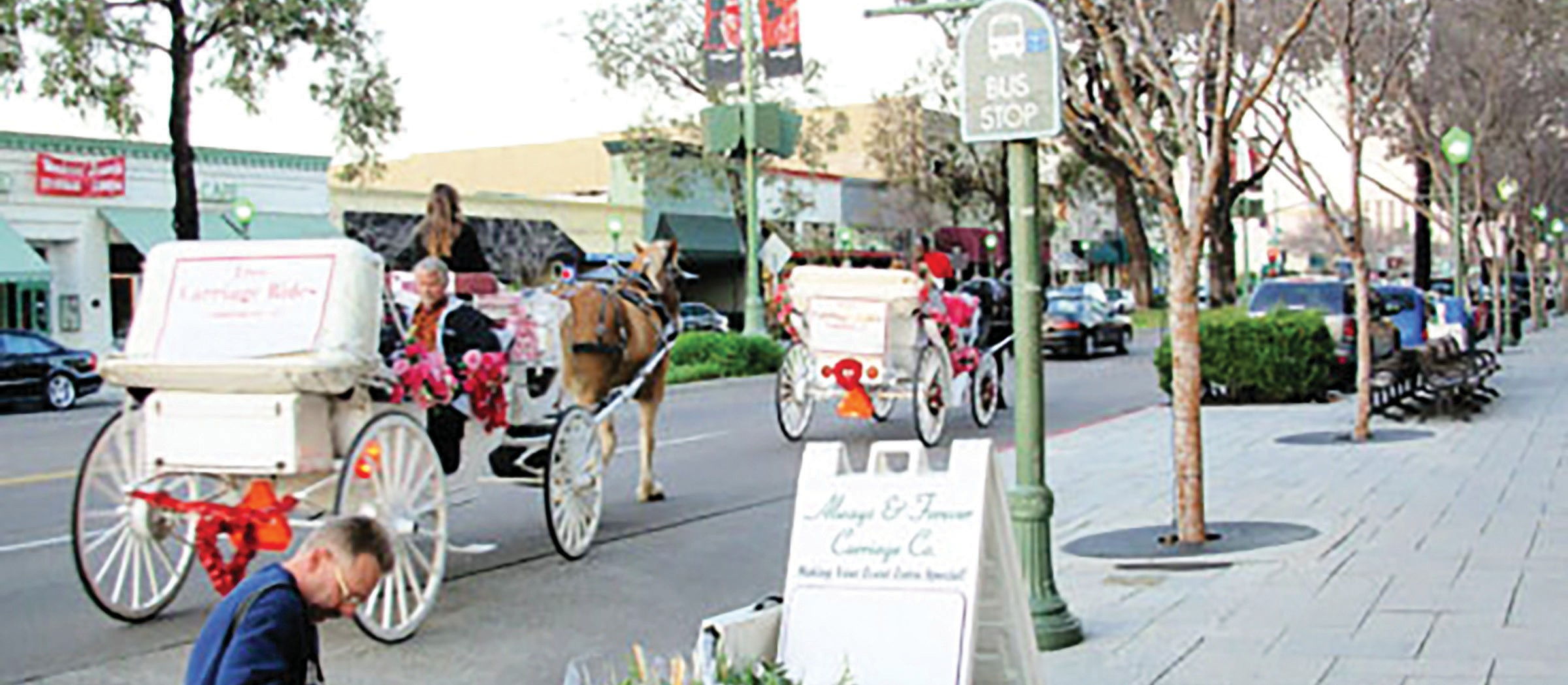 Carriages will be available during the chocolate festival for romantic drives around the Historic Downtown.
