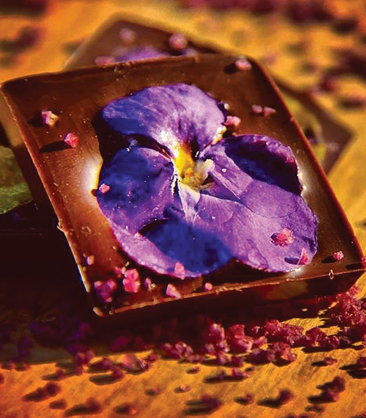 Does anything mix quite as well as chocolate and flowers?