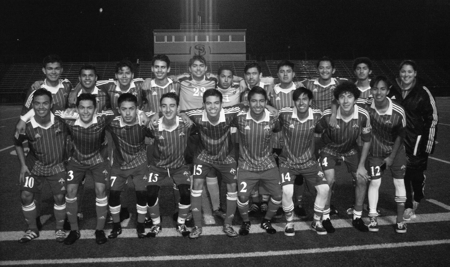 The Orange Glen High School boys soccer team.