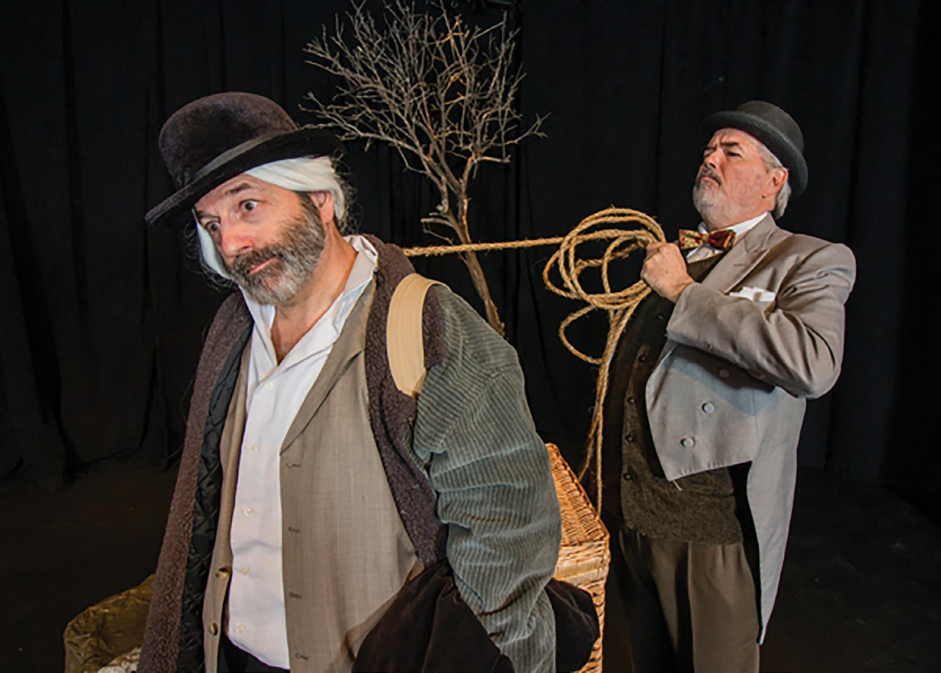 """Cast members of the Patio Playhouse production of """"Waiting for Godot."""""""