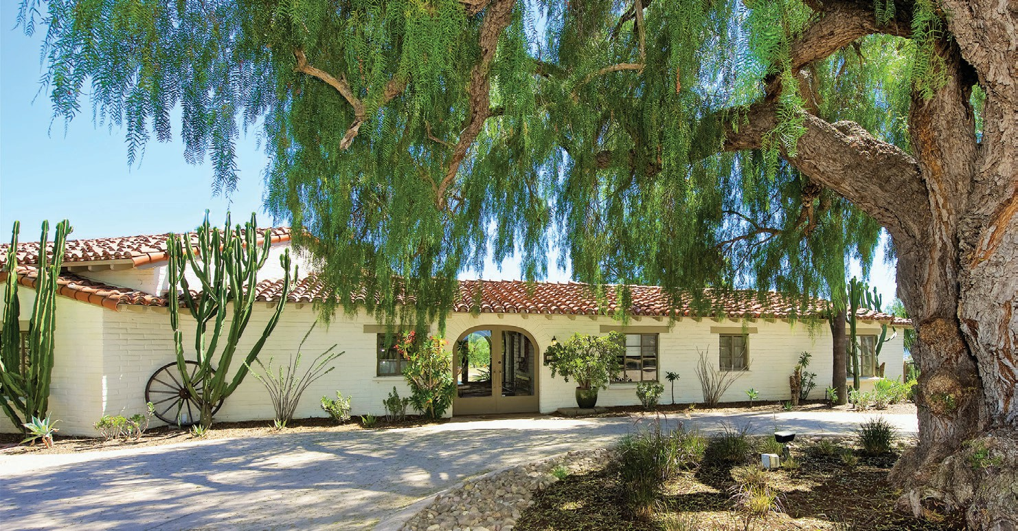 As you approach this Escondido adobe home featured in the San Diego North County Adobe Home Tour in 2017, you feel like you have stepped back in time to Spanish Colonial California.