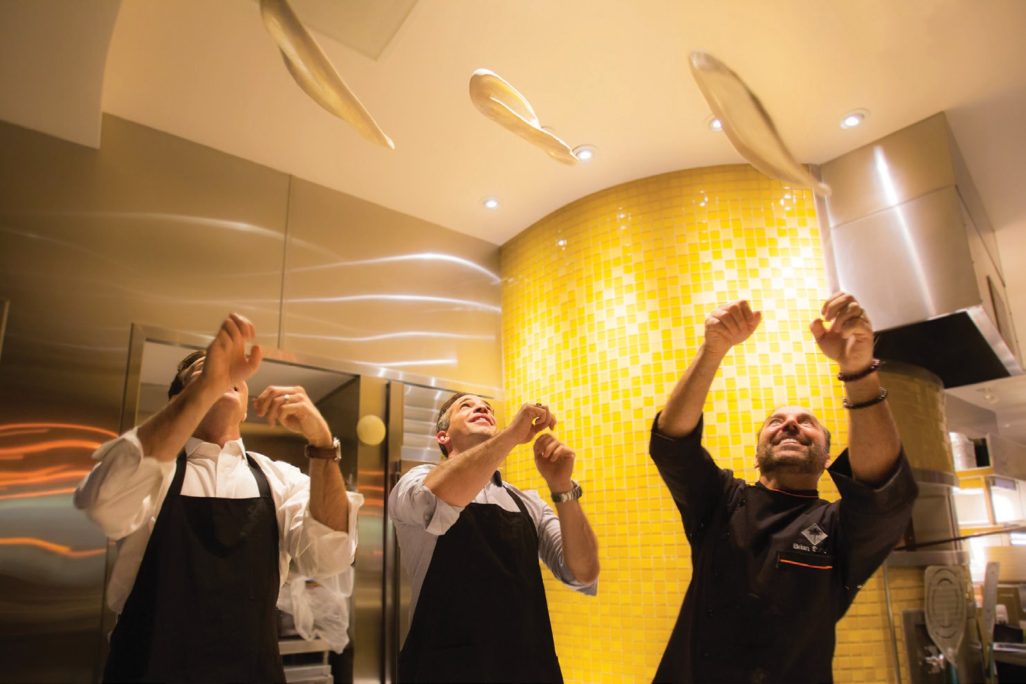 The evening ended with some lessons in pizza tossing from CPK Executive Chef, Brian Sullivan.