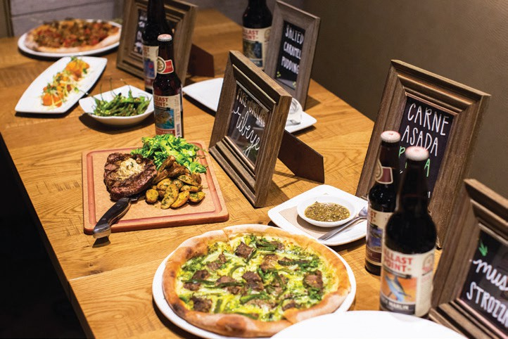 Just a few of the food and beer pairings with California Pizza Kitchen and Ballast Point.