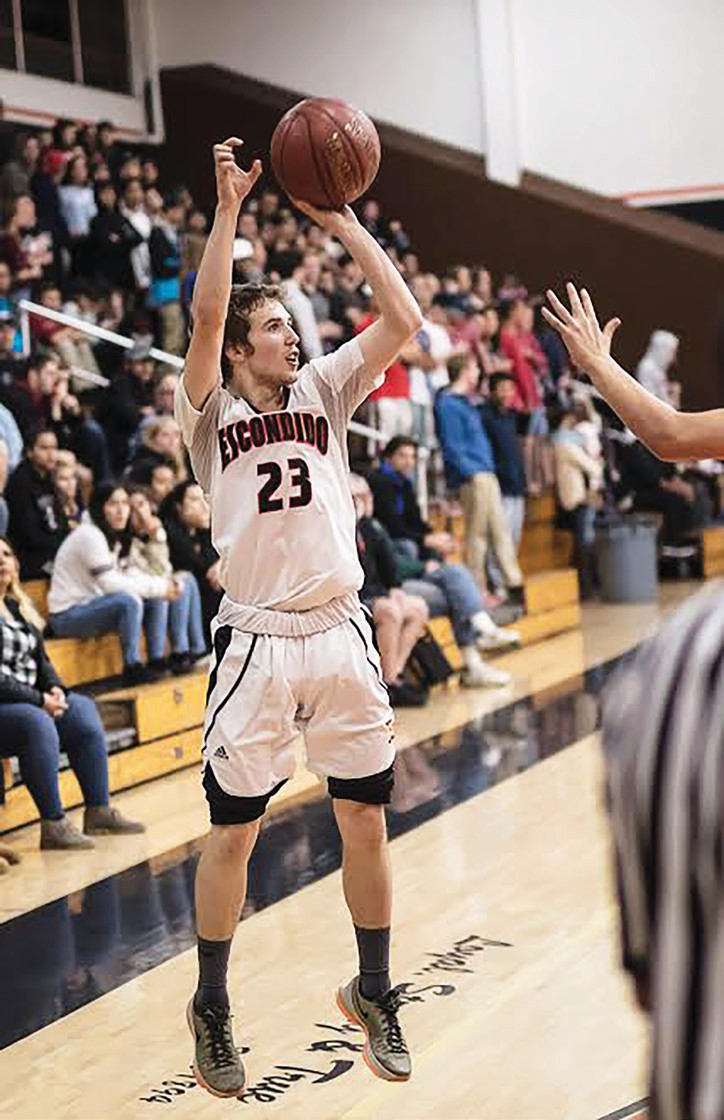 Guard Wes Jones, who finished with 16 points, really heated up in the second half versus Ramona. Photos by Lenny Kerbs