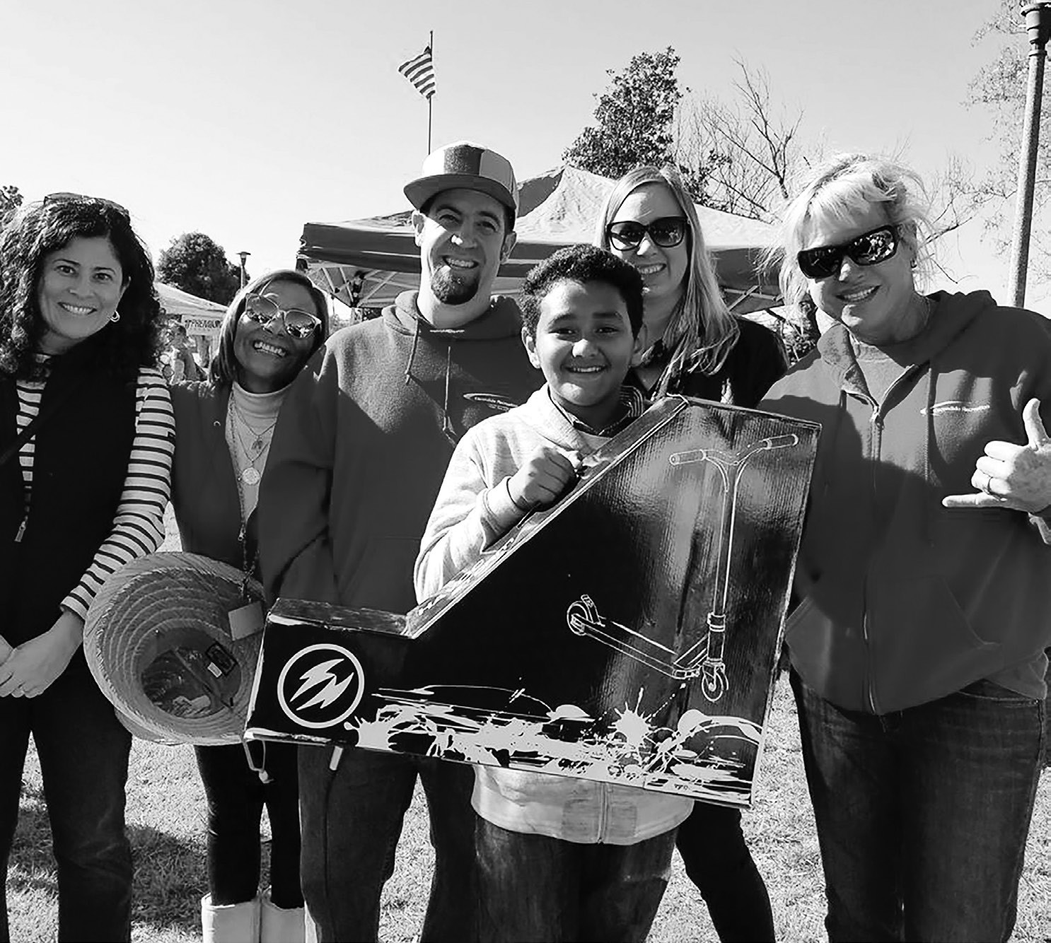 There was an amazing community turnout at the Washington Park Skate Plaza Rally. The day ended with Carlos Vitale winning a new scooter, presented by Councilmember Olga Diaz and Escondido Community Services. This Havoc scooter was donated by The Spot Pro Scooter Industries.