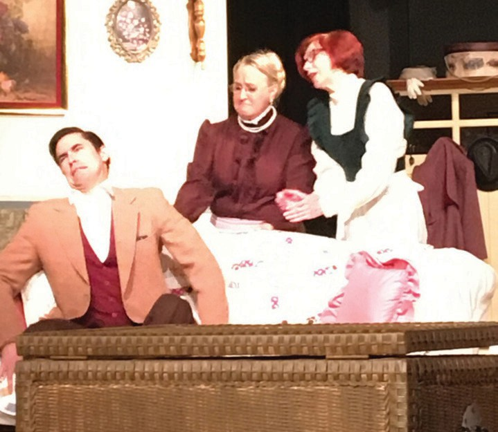 "Cast members from the upcoming production of ""Arsenic and Old Lace,"" opening Friday at Community Lutheran Church."