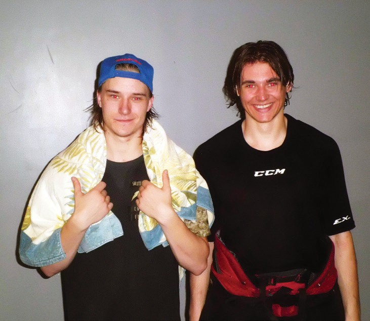 Mattias Eklund (left) and Keegan O'Brien scored regulation goals that were absolutely huge.