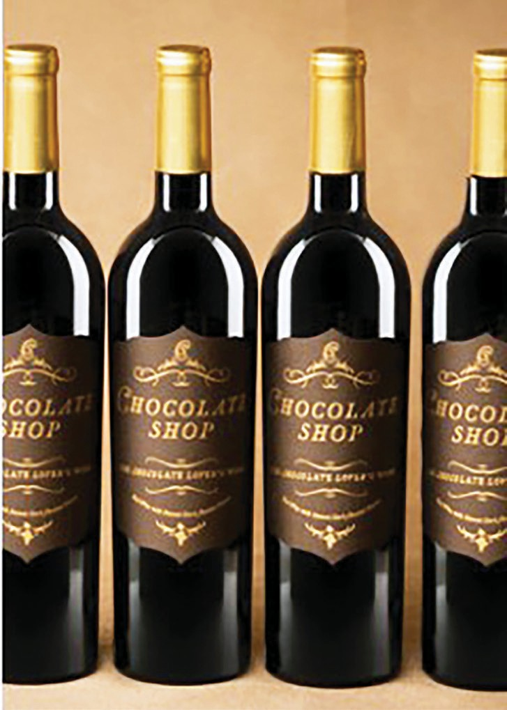 Chocolate shop blends red wine, chocolate and cocoa powder.