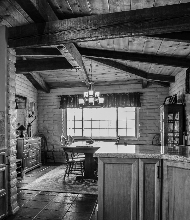 The combination of wood and adobe creates a rustic yet sophisticated look that is hard to beat or even equal.