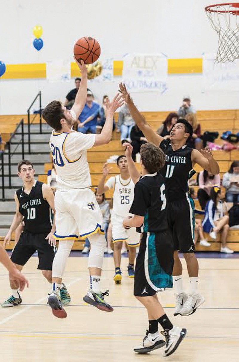San Pasqual senior Alex Southworth showed nice touch on this left-handed shot.